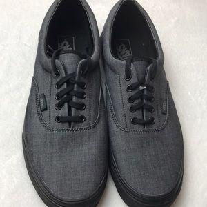 Vans Era Mono Chambray Black mens shoes size 11.5